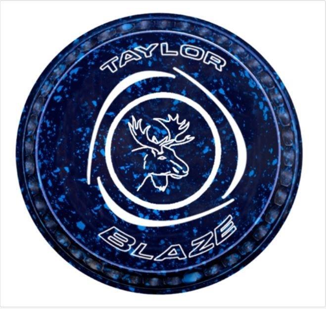 Taylor Blaze Black Level Green Lawn Bowls Set of 4