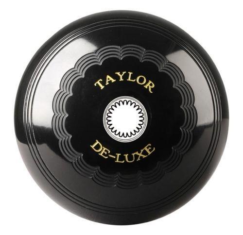 Taylor Deluxe Pair Black Standard Density Crown Green Bowls